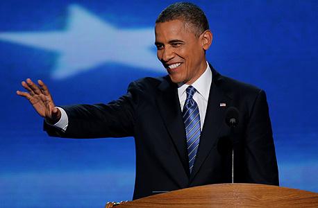 ברק אובמה מחייך, צילום: בלומברג