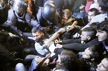 הפגנה במדריד נגד המדיניות הממשלתית
