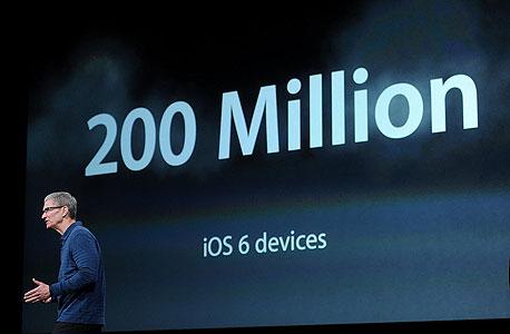 200 מיליון מכשירים מריצים iOS 6
