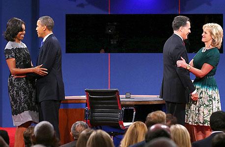 פנאי עימות נשיאות ארצות הברית נשיא ברק אובמה מיט רומני, צילום: איי אף פי
