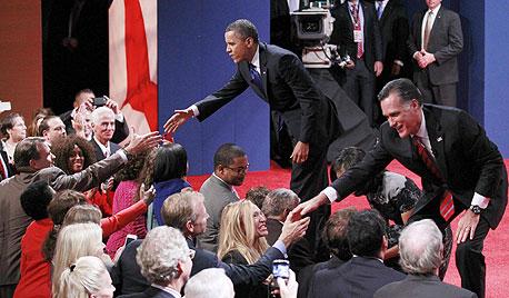 מיט רומני ברק אובמה עימות בחירות, צילום: רויטרס