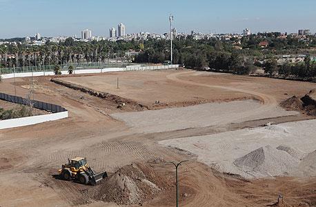 השטח עליו ייבנה  אצטדיון רחובות