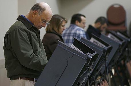 """מכונות הצבעה בארה""""ב, צילום: רויטרס"""
