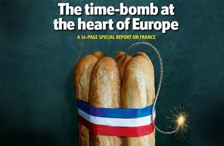 """צרפת לפי """"האקונומיסט"""": פצצת זמן בלב אירופה"""