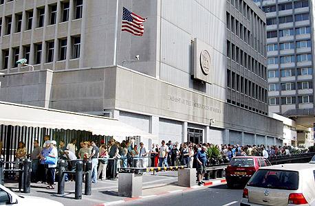 שגרירות ארצות הברית בתל אביב, צילום: מיכאל קרמר
