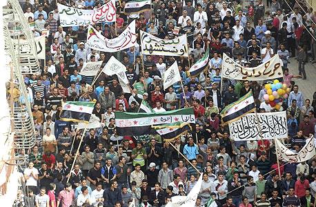 ברחובות כן, באינטרנט לא. מחאה בסוריה