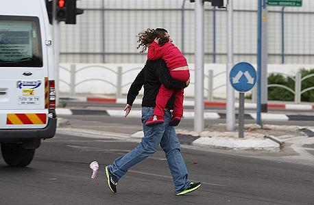 אזעקה בבאר שבע, צילום: אוראל כהן