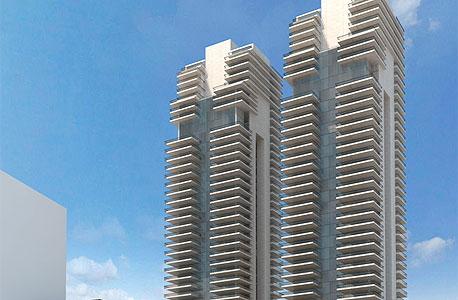 המגדלים ברחובות קפלן ולאונרדו דה וינצ'י בתל אביב (הדמיה)