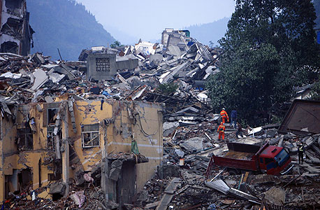 רעידת אדמה סין 2008, צילום: בלומברג