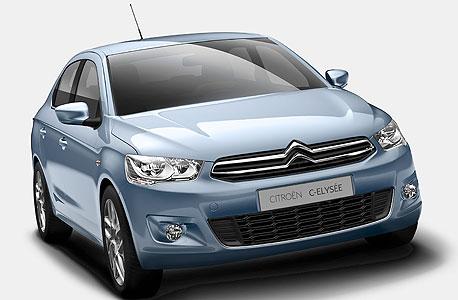 סיטרואן C אליזה. המחיר צפוי להיות כ115 אלף שקלים, פחות מדגמי מכוניות משפחתיות רבות