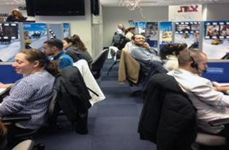 פלאפון מוקד באר שבע עבודה ממשיכה כרגיל למרות ה שביתה, צילום: דגנית קרמר