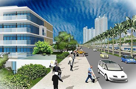 הדמיה של הפרויקט, הדמיה: באדיבות אגף הדוברות וההסברה, עיריית חדרה