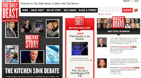 אגרגטור עם תוכן עצמאי. אתר ה-Daily Beast