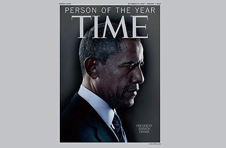 ברק אובמה על שער טיים נבחר לאיש השנה, צילום: איי אף פי