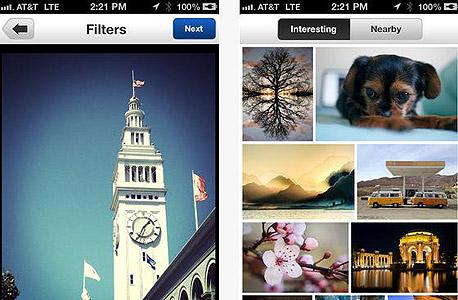 אפליקציה צילום עיבוד תמונה fliker