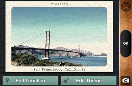 אפליקציה צילום עיבוד תמונה hipster