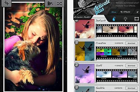 אפליקציה צילום עיבוד תמונה pixir o matic