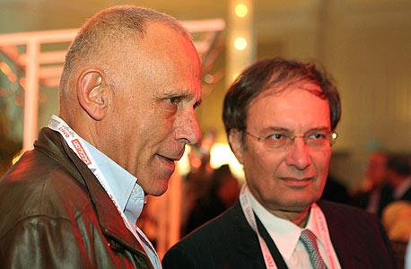 """דוד ברודט, יו""""ר בנק לאומי, ואורי שני, צילום: אוראל כהן"""