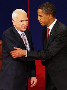 """יאללה כבר, שייגמר. שני המועמדים לבחירות בארה""""ב, צילום: בלומברג"""
