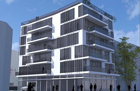 הדמיית פרויקט כיכר מסריק בתל אביב לפני אישור הוועדה המקומית