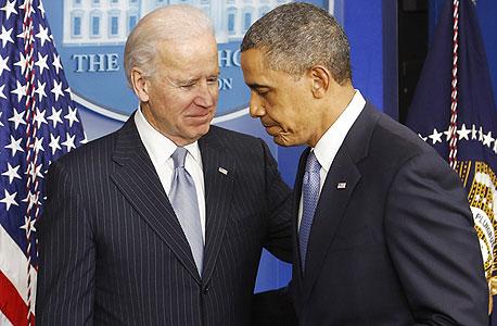 ברק אובמה ג'ו ביידן צוק פיסקאלי, צילום: רויטרס