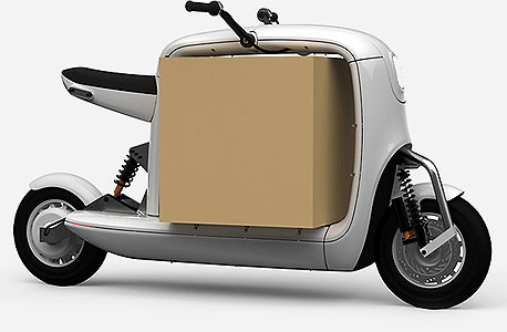 המודל המתוכנן לקטנוע מטען. בתוך המסגרת הריקה אפשר להכניס ארגז גדול
