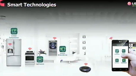 LG CES 2013 מסכים מסך טלוויזיה חכמה