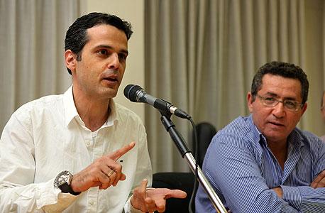 ישיבת הסתדרות בנושא פלאפון עופר עיני ברק לוי, צילום: עמית שעל
