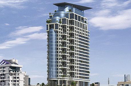 הדמיית מגדל Sea One בתל אביב