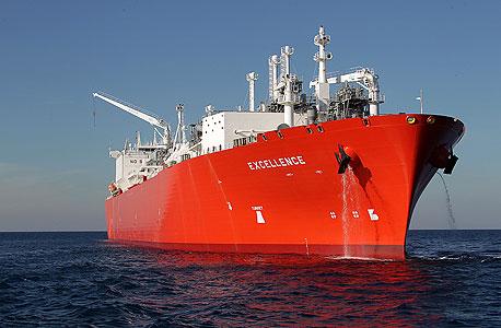 האונייה הנושאת את הגז הנוזלי מול חופי ישראל, צילום: יוסי וייס