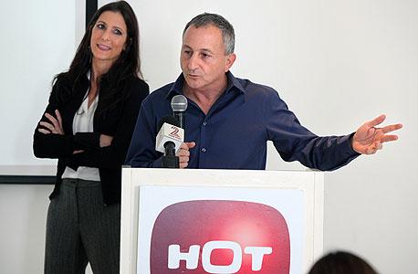 מסיבת עיתונאים הוט הרצל עוזר סביון בר סבר, צילום: עמית שעל
