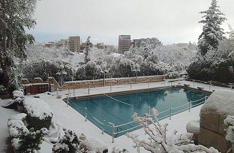 תמונות מהשלג ומהסערה: ישראל יפה בלבן