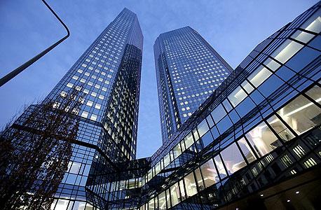 מטה דויטשה בנק בפרנקפורט. תיק נגזרים גדול פי 20 מכלכלת גרמניה