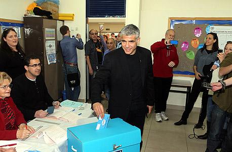 יאיר לפיד בבחירות האחרונות לכנסת, צילום: יריב כץ