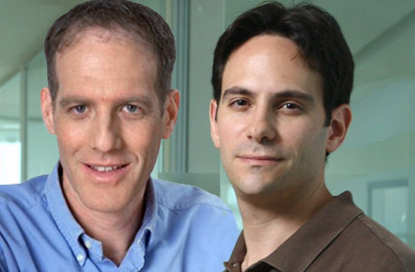 אדם פישר, נציג קרן בסמר (מימין) ורן ולינגשטיין, ממייסדי אינטוסל