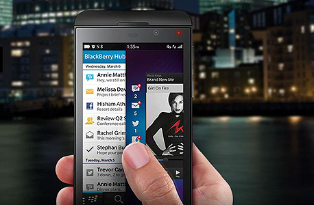 מכשיר ה-Z10. נראה לא רע - אבל לא מתחרה קשוח למכשירים המובילים בשוק