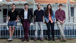 מימין: אלכסנדר ססלר, עדן מולדובסקי, עידן חוגי, שיר פינטו ומיכאל עזרי, צילום: עמית שעל