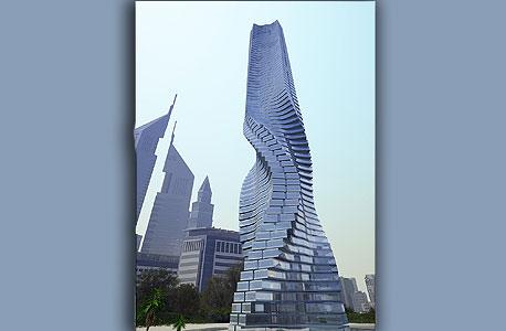 המגדל המסתובב בדובאי  Dynamic Tower , צילום: בלומברג