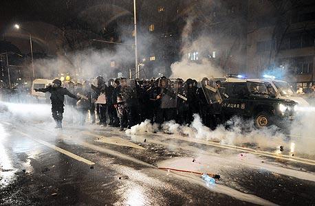 ההפגנות בבולגריה אמש, צילום: איי אף פי