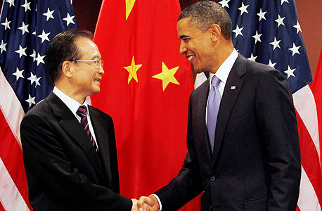 מוסף השקעות ברק אובמה וואו ג'יאבאו ראש ממשלת סין פגישה 2011, צילום: רויטרס
