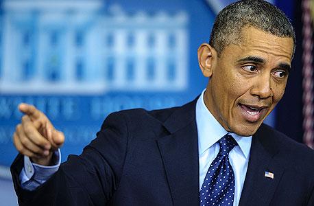 """נשיא ארה""""ב ברק אובמה, צילום: בלומברג"""