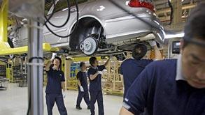 מפעל יצרנית רכב דיימלר בייג'ינג, צילום: בלומברג