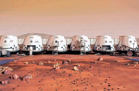 הדמיית המושבה החלוצית שמארס 1 מתכננים להקים על מאדים