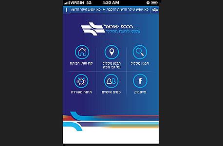 אפליקציה רכבת ישראל אפליקציות