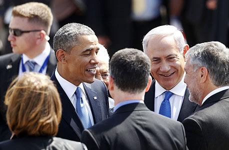 ברק אובמה בביקור בארץ בינימין נתניהו , צילום: רויטרס