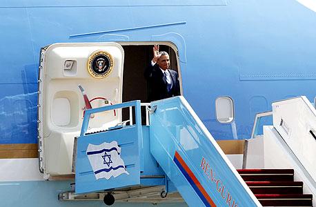 ברק אובמה בביקור בארץ, צילום: רויטרס