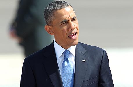 ברק אובמה נואם ב ביקור בארץ, צילום: איי אף פי