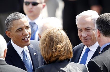 ברק אובמה ב ביקור בארץ בנימין נתניהו, צילום: רויטרס