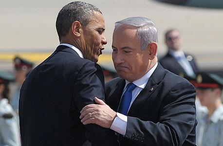 פנאי בנימין נתניהו ברק אובמה, צילום: איי אף פי