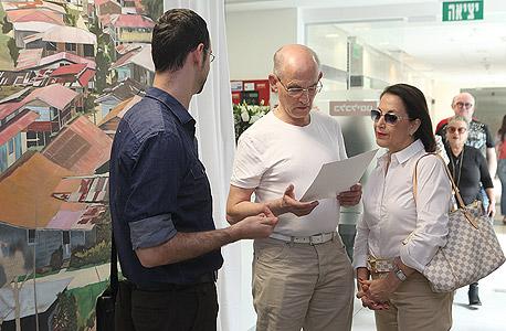 """רו""""ח משה גרוס (במרכז) ויקיר שגב, צילום: אוראל כהן"""